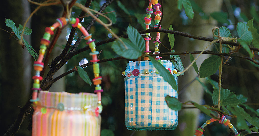 Upcycled Glass Jar Lanterns