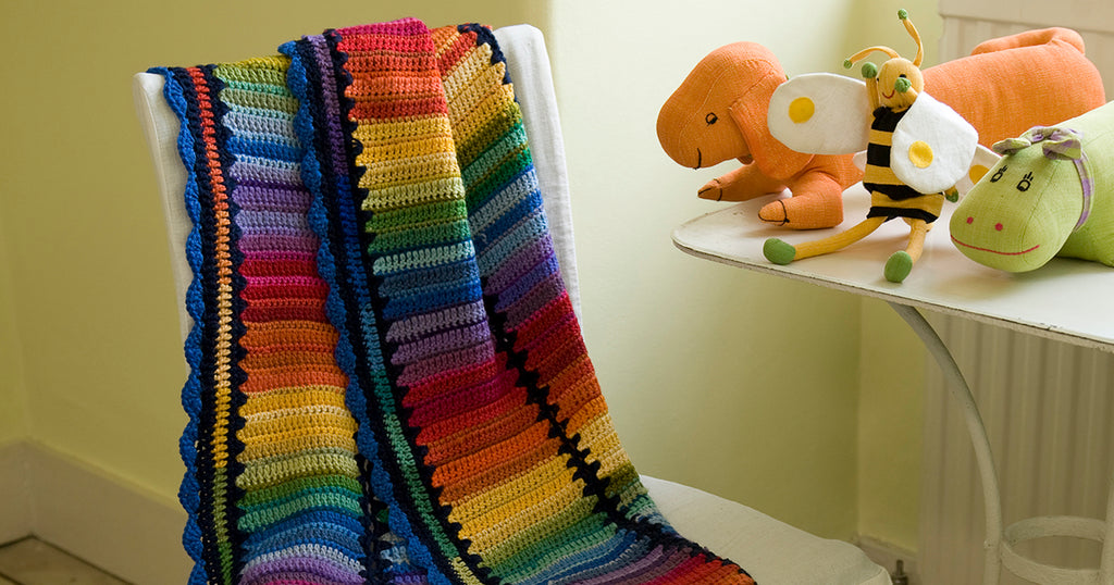 Crocheted Rainbow Baby Blanket