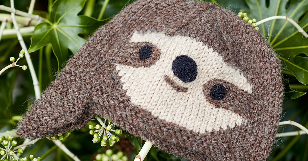 Knitted Sloth Hat