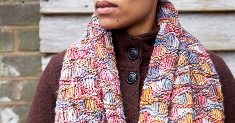 Knitted Waves of Warmth Wrap