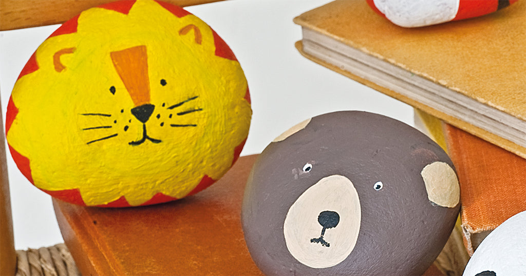 Rock Painting Zoo Animals