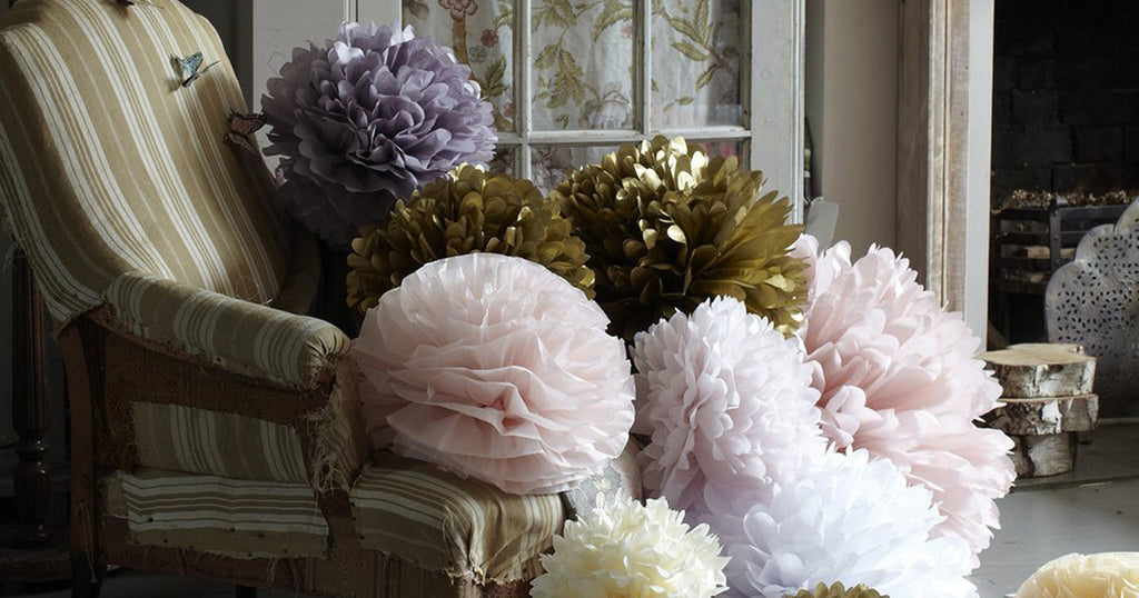 Paper pom-pom party decorations