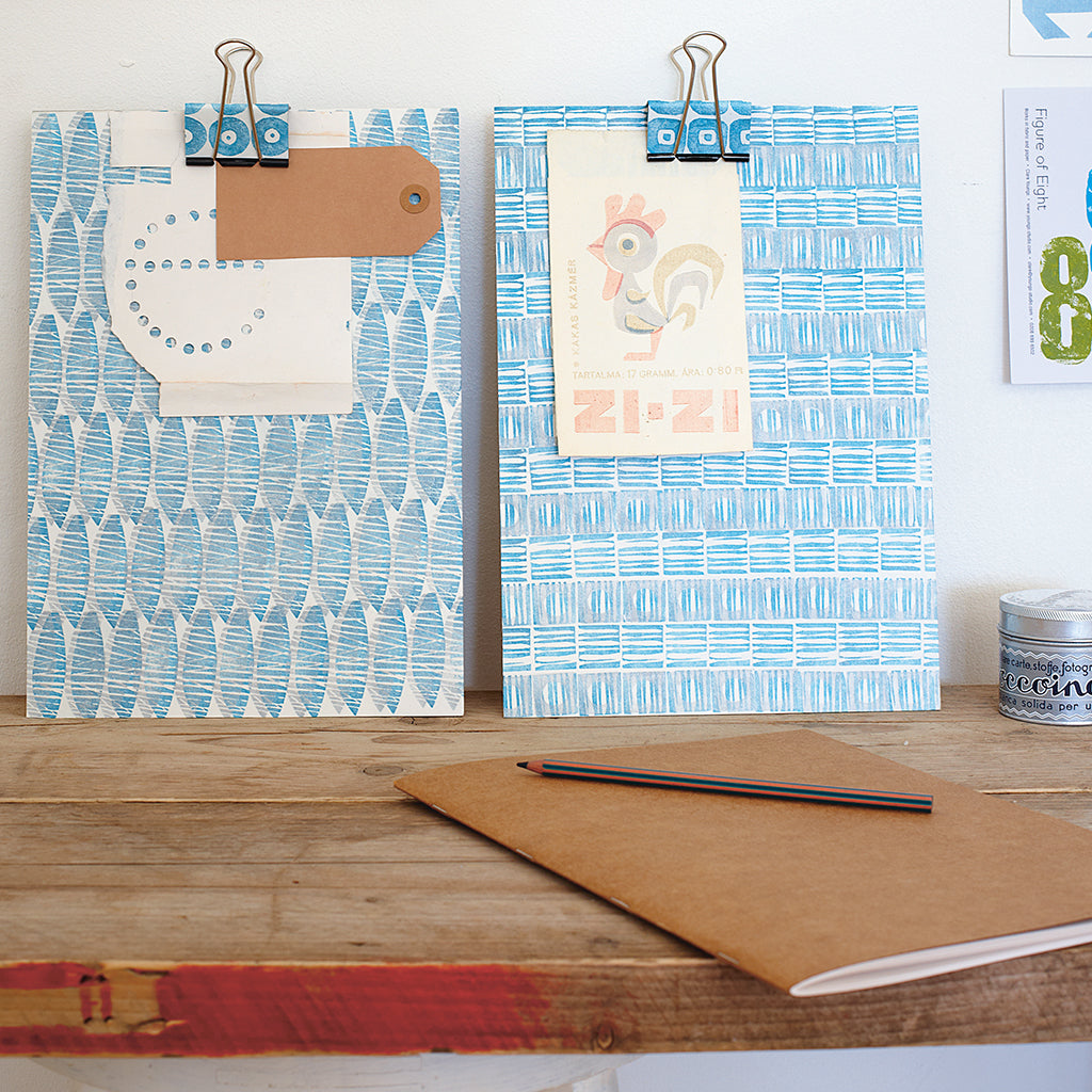 a year in crafts printed clip boards
