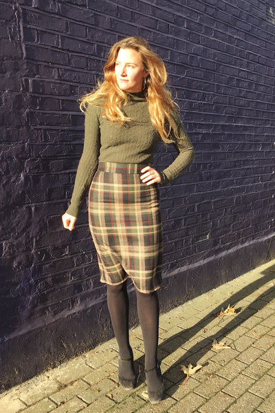 By Hand London in a homemade skirt from A Beginner's Guide to Making Skirts
