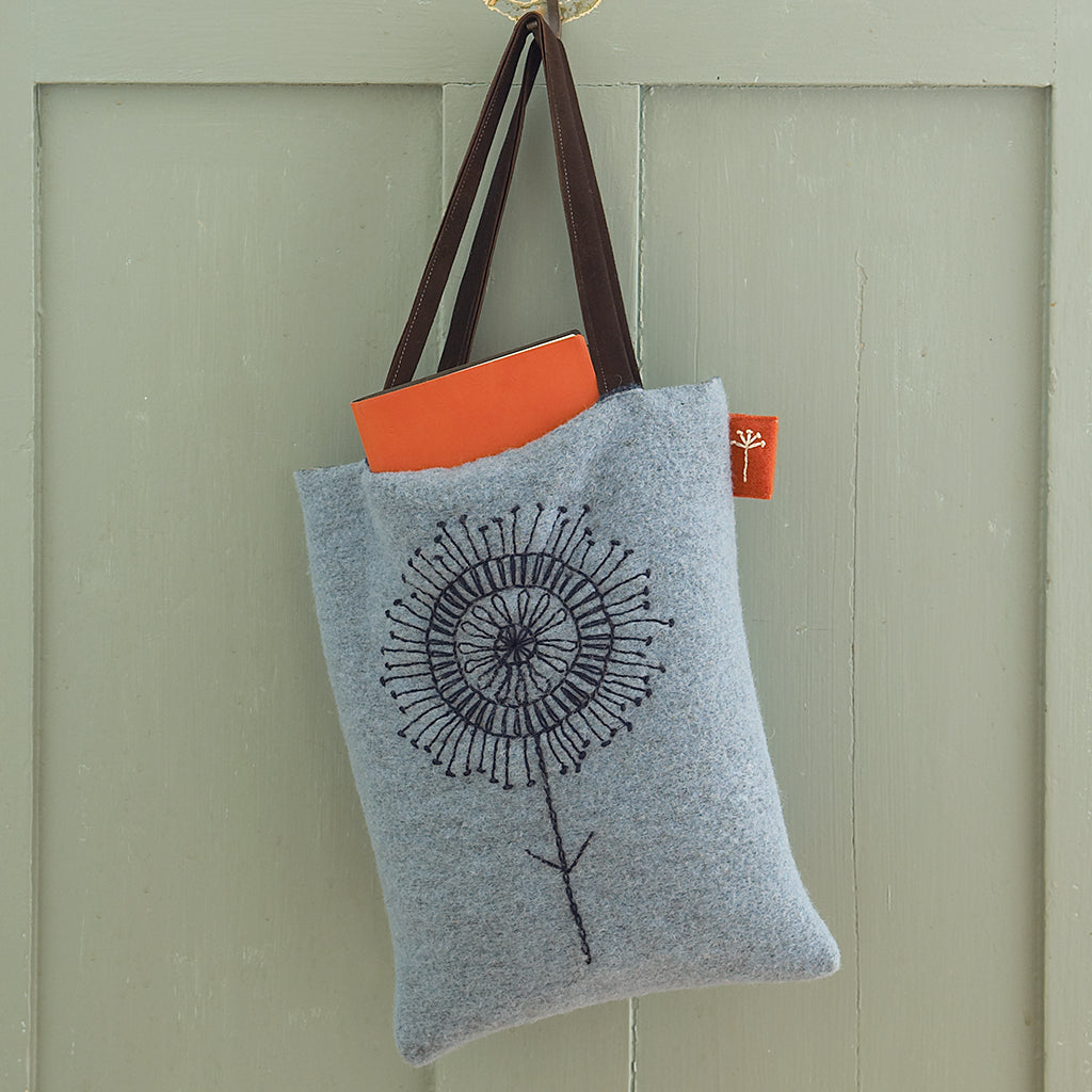 Scandi Embroidered Felted Bag Free Pattern  