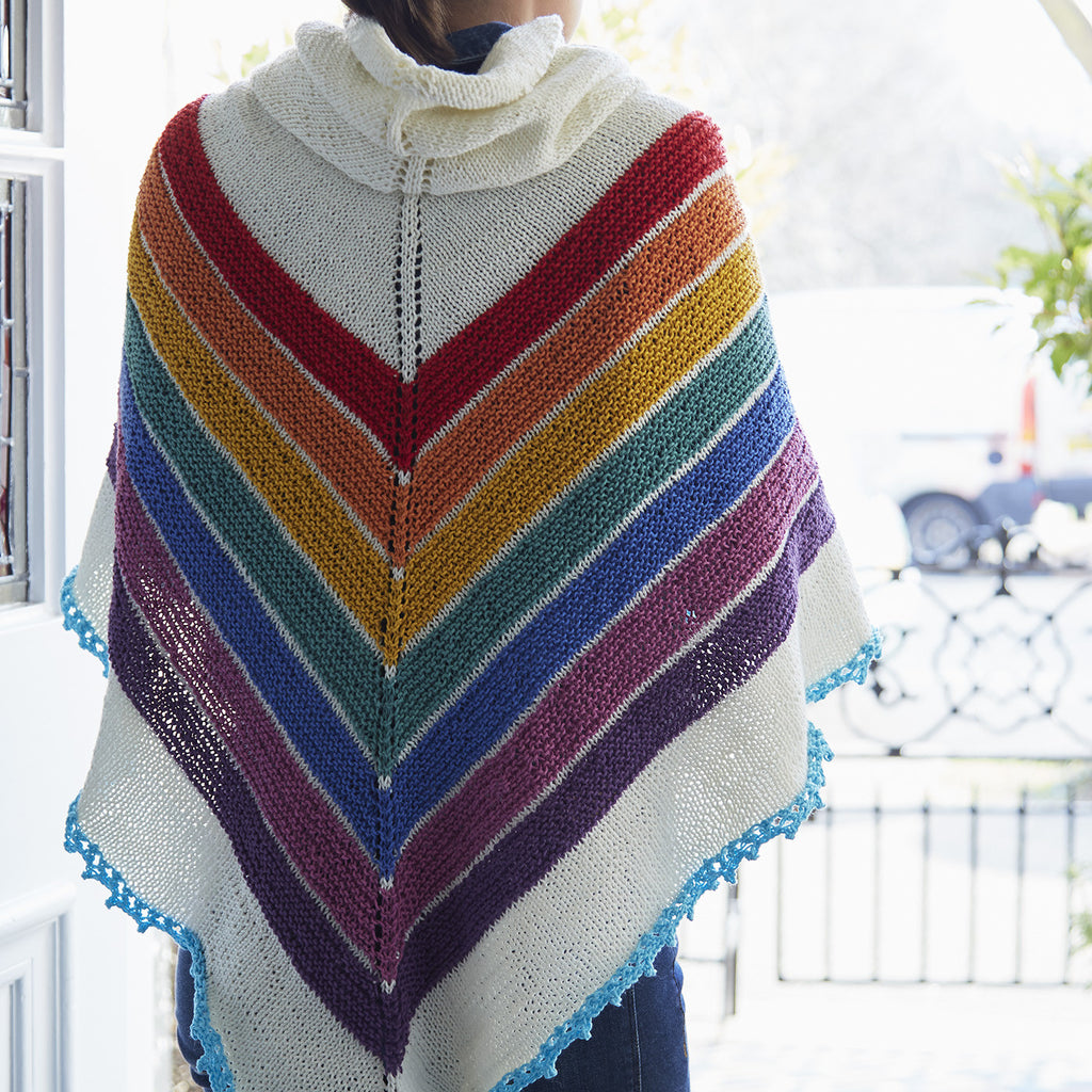 Crocheted Rainbow Shawl