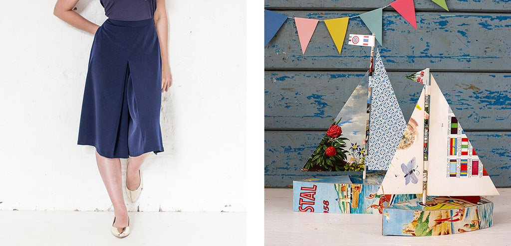 Culottes and paper boats craft ideas