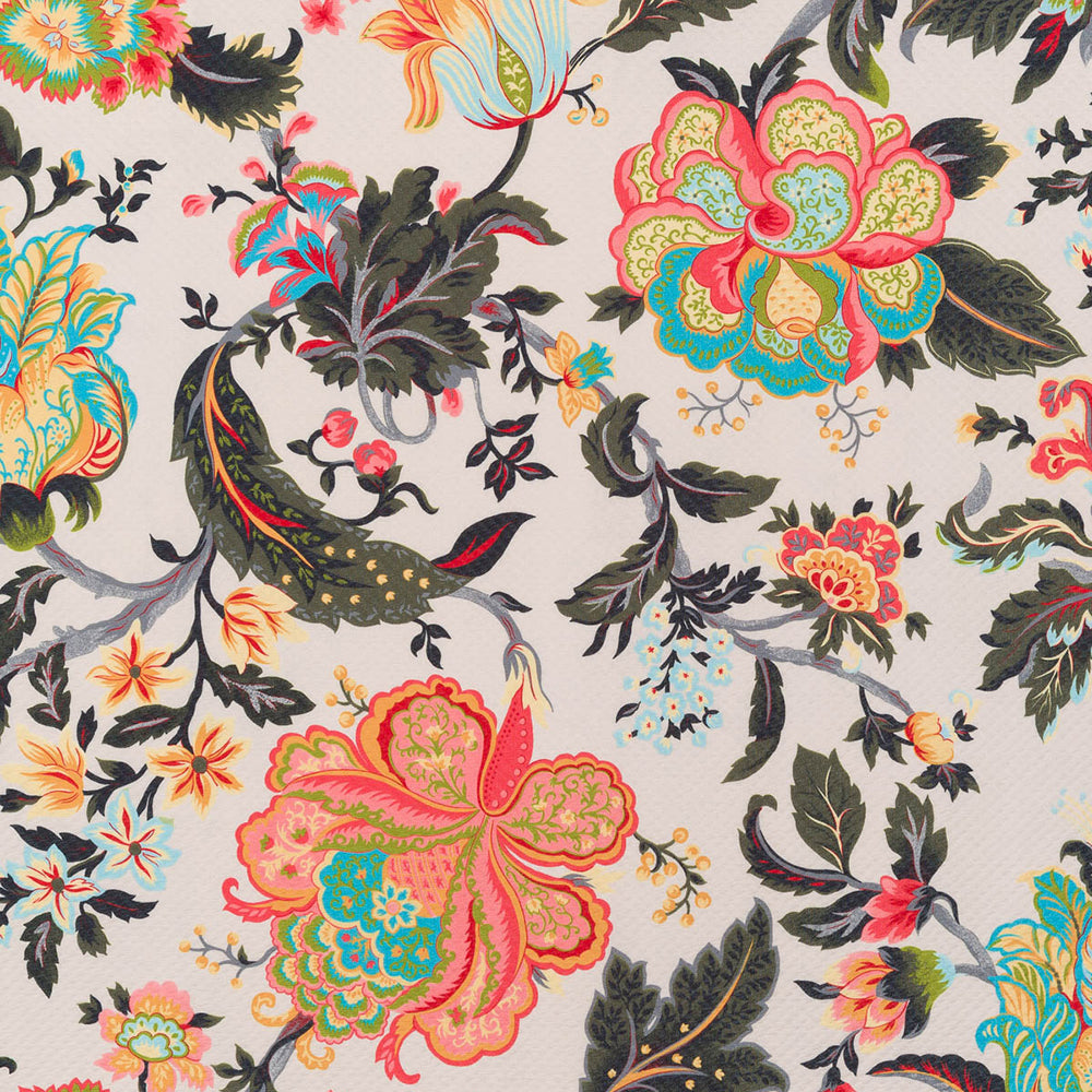 Jacobean Floral Fantasty Jersey Crepe Fabric from Fabworks