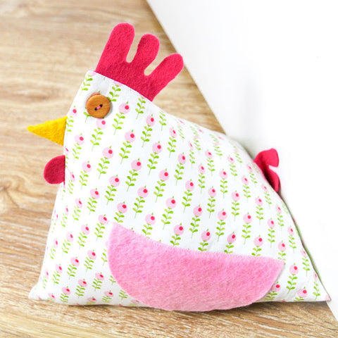 Happy Chicken Doorstop Boys in Bunting