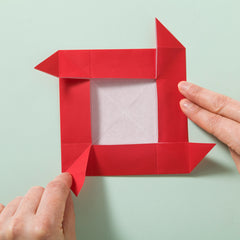 How to make an origami rose fold 8
