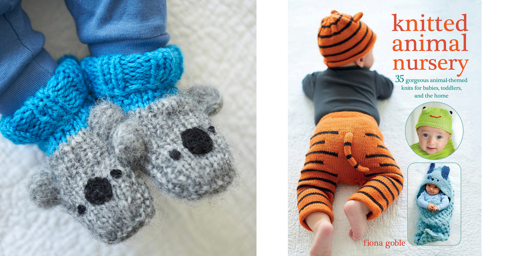 Knitted Animal Nursery cute koala booties