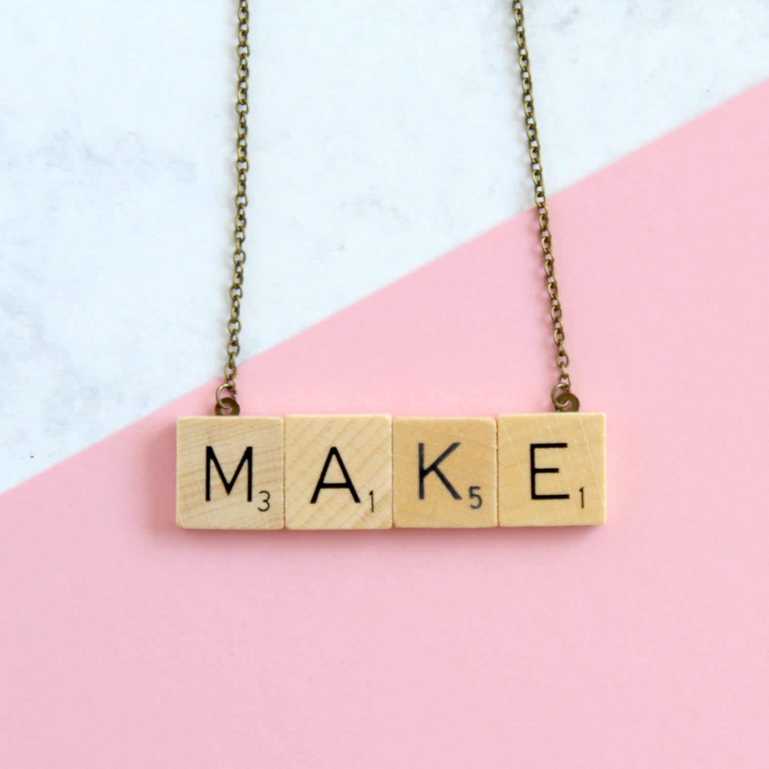 MAKE Scrabble Necklace from Claireabellemakes