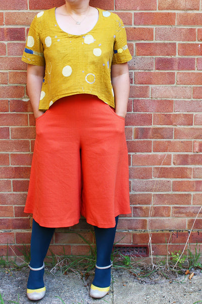 Marilla Walker in homemade culottes from A Beginner's Guide to Making Skirts