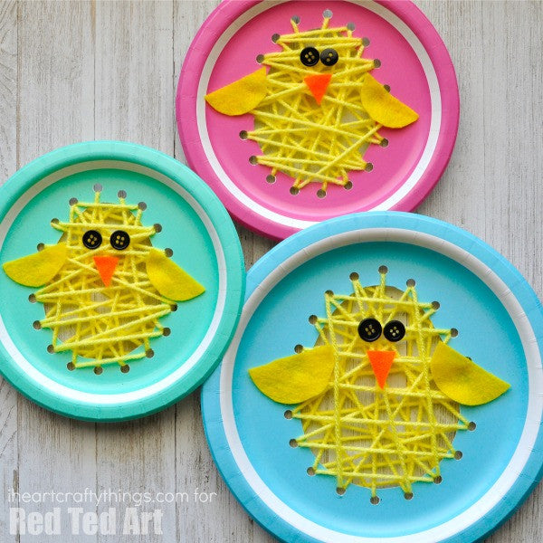 Paper Plate Chicks Red Ted Art