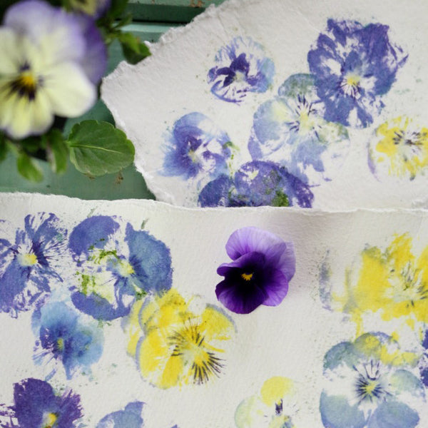 Pressed Pansy Prints - Craftberry Bush Blog