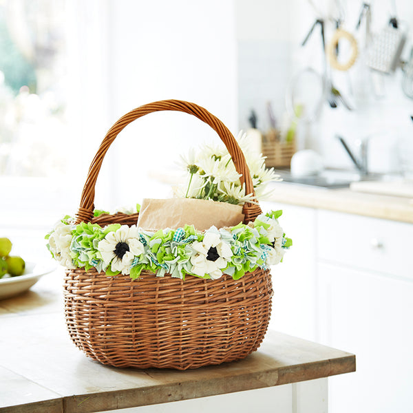 Rag Rug Spring Basket by Elspeth Jackson