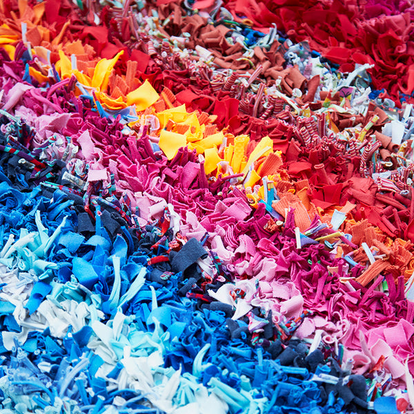 Rainbow Rag Rug by Elspeth Jackson