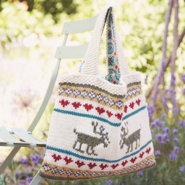 Festive Tote Bag by Nicki Trench | Free Knitting Pattern | MAKEetc.com