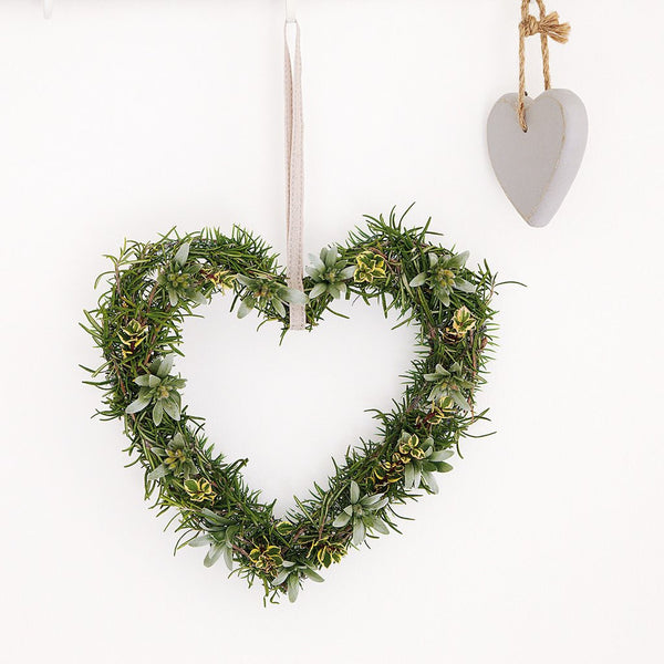 Rosemary Heart Wreath