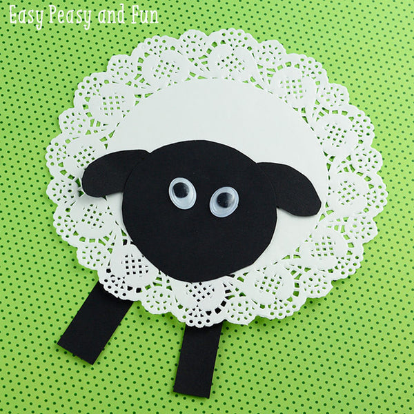 Doily Sheep Easy Peasy and Fun