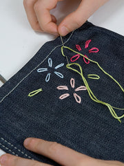 embroidered jeans step 2