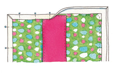sewing for babies and children on-the-go changing mat step 3