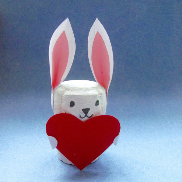 Valentines Cork Bunny kids recycled craft project