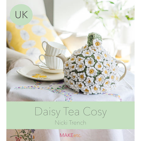 Daisy Tea Cosy Crochet DOWNLOAD PATTERN (UK)