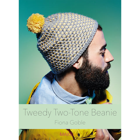 Tweedy Two-Tone Beanie Knitting DOWNLOAD PATTERN
