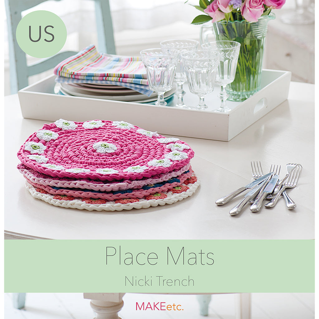 Flower Placemats crochet PATTERN DOWNLOAD (US)