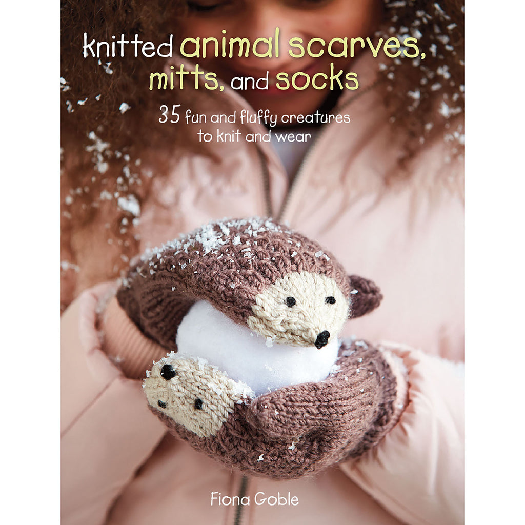 knitted animal scarves, mitts and socks by fiona goble