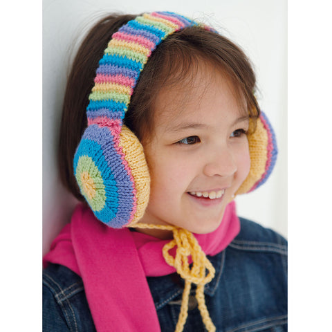 Knitting for children headphone covers