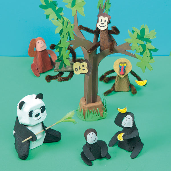 paper monkeys and panda