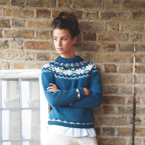 Blue Fair Isle knitted jumper