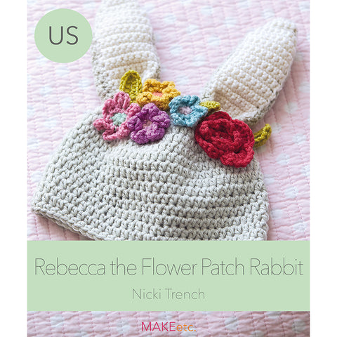 Rabbit Hat Crochet PATTERN (USA)