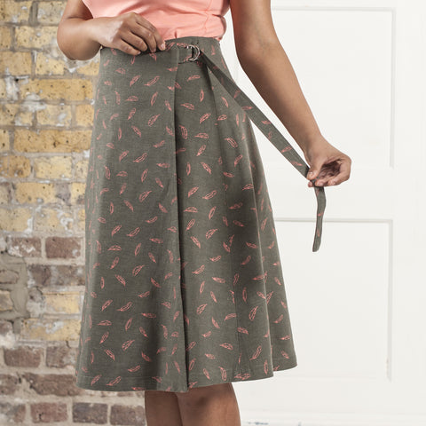 Stylish long patterned skirt