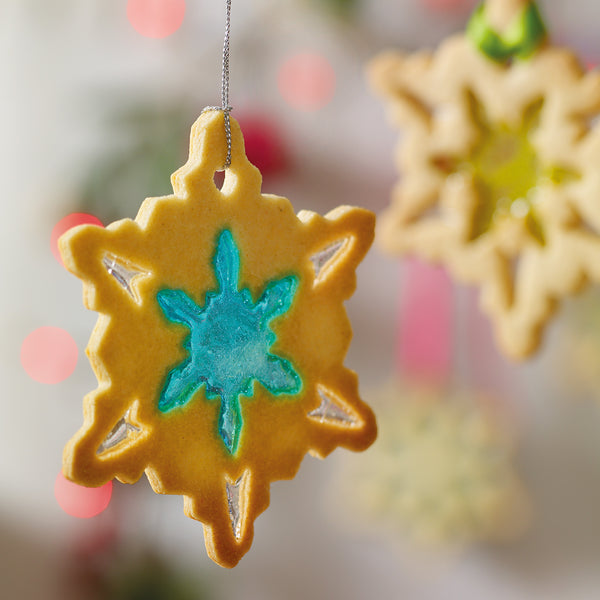 stained glass biscuit christmas tree decoration