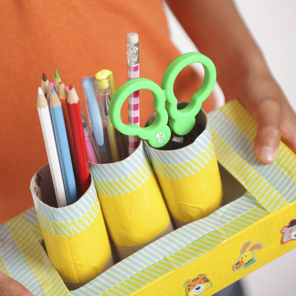 handmade cardboard stationary holders