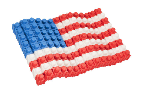 American Flag Set - Standard Blocks Canister - 126 Pieces