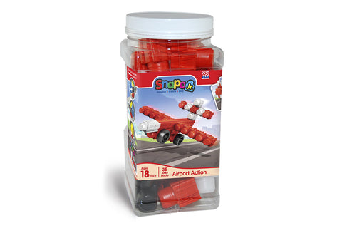 Airport Action - Jr Big Blocks Canister - 35 Pieces