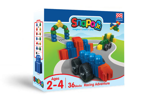 Racing Adventure - Jr Big Blocks Box - 36 Pieces