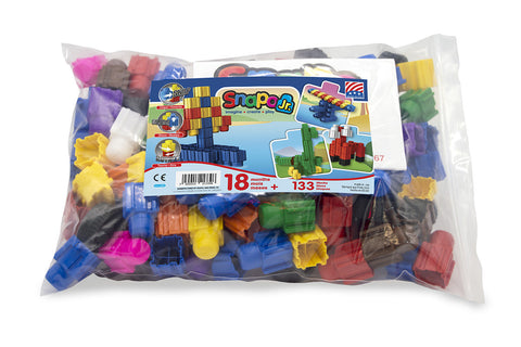 Snapo Classroom Set Jr  Big Blocks - 133 Pieces - Tub