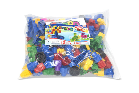 Snapo Classroom Set Jr  Big Blocks - 250 Pieces - Bag
