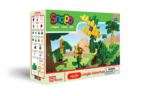Jungle Adventure - Standard Blocks Box - 151 Pieces