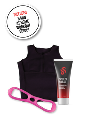 Sweat Vest, Sweat Cream, and Booty Resistance Band Bundle - Pink Hard