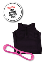 image-main:Sweat Vest and Resistance Band Bundle - Pink Easy