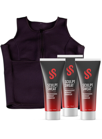 3 Sweat Creams + 1 Sculpt Sweat Vest