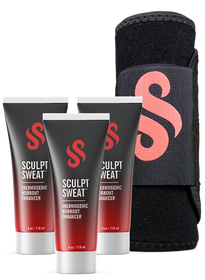 3 Sweat Creams + Free Belt (One Size Fits All)