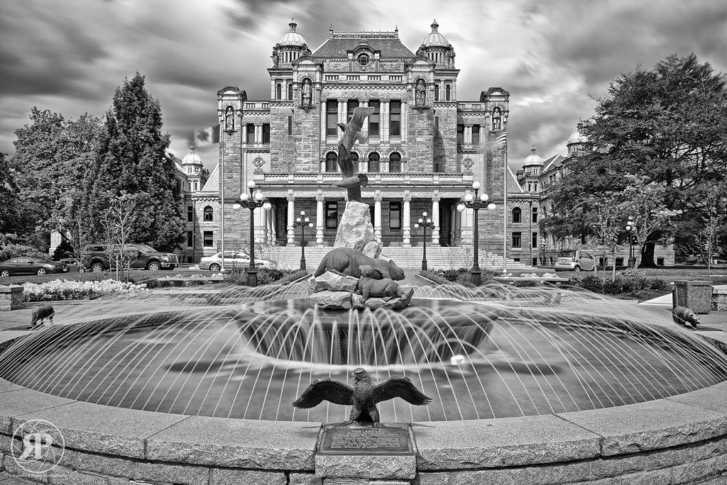 Rear Fountain, BC Parliament Buildings, Victoria (Limited Edition Print)