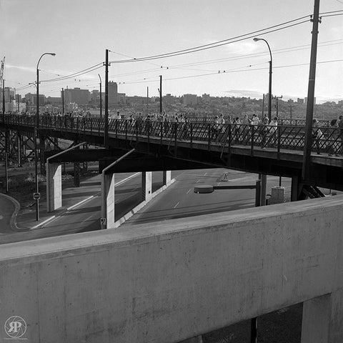 Crowd on Old Connaught Bridge at Pacific Blvd., 1984 (Limited Edition Print)